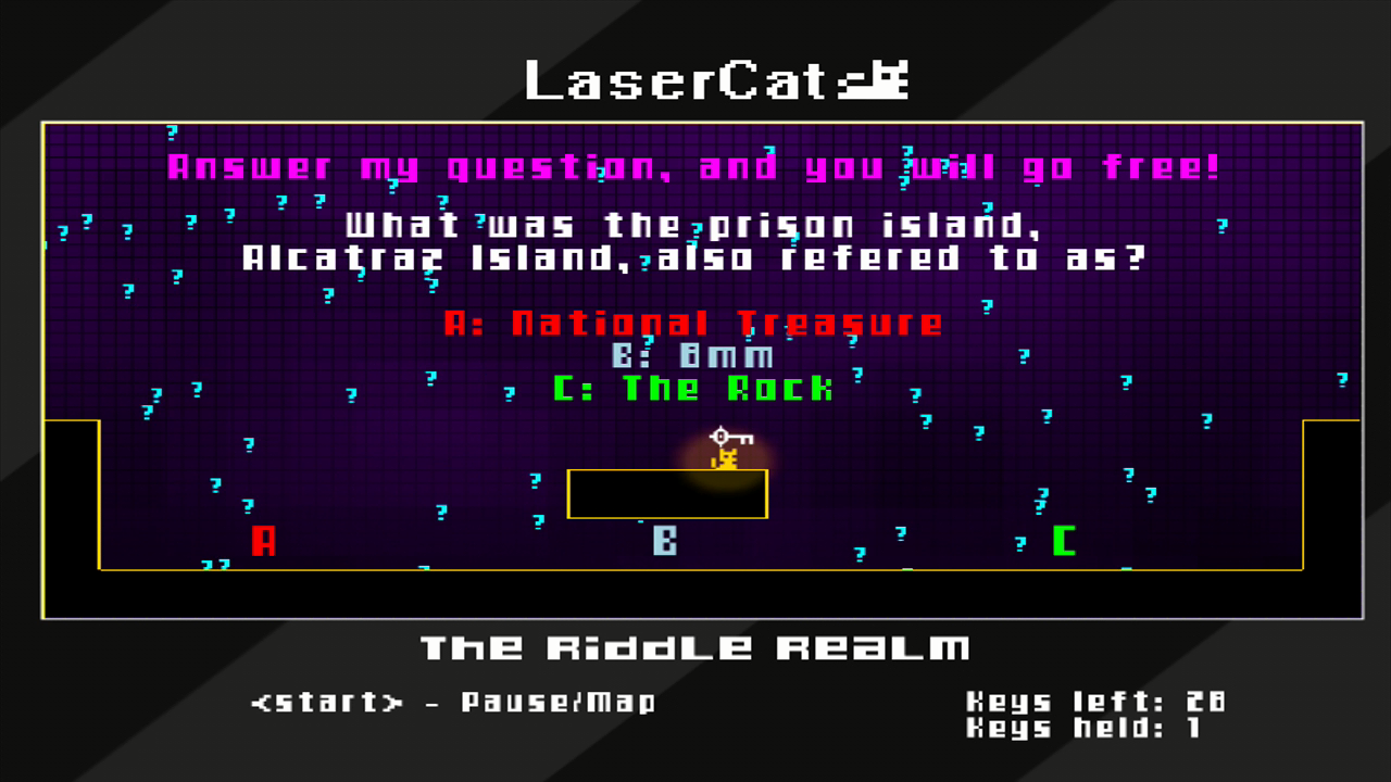 LaserCat Xbox 360 ...while some questions are sillier than others.