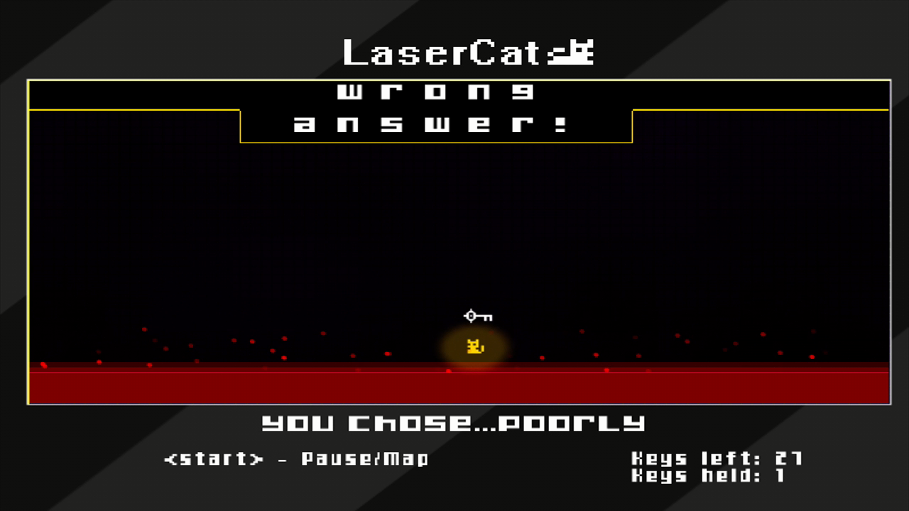 LaserCat Xbox 360 This is what happens if you answer incorrectly.
