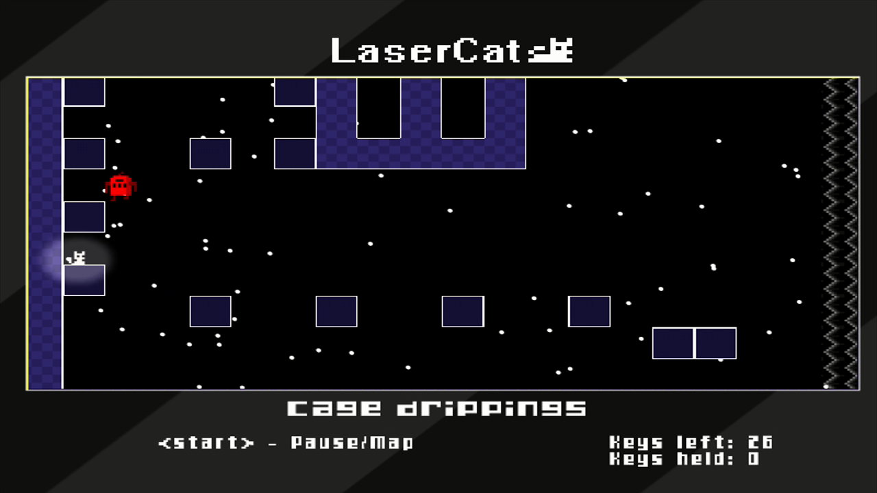 LaserCat Xbox 360 Reached the east wall of the castle, but I've only found four keys!