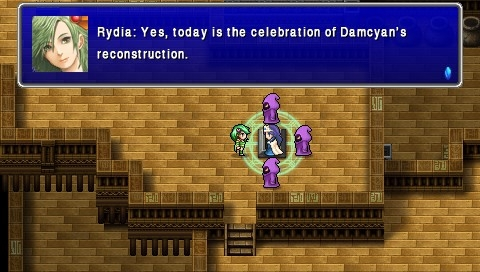 Final Fantasy IV: The Complete Collection PSP Final Fantasy IV Interlude: Rydia is off to Damcyan for celebration
