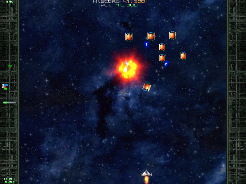 Warblade Windows Explosion in space. Graphic are simple but nice.
