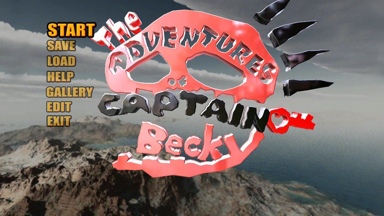 The Adventures of Captain Becky Xbox 360 Title menu.