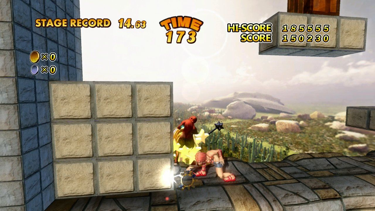 The Adventures of Captain Becky Xbox 360 It's possible to do a powerful ground smash move. Works well on bosses and breakable platforms!