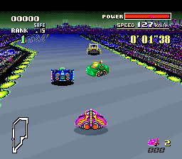 F-Zero SNES chase group of opponents.