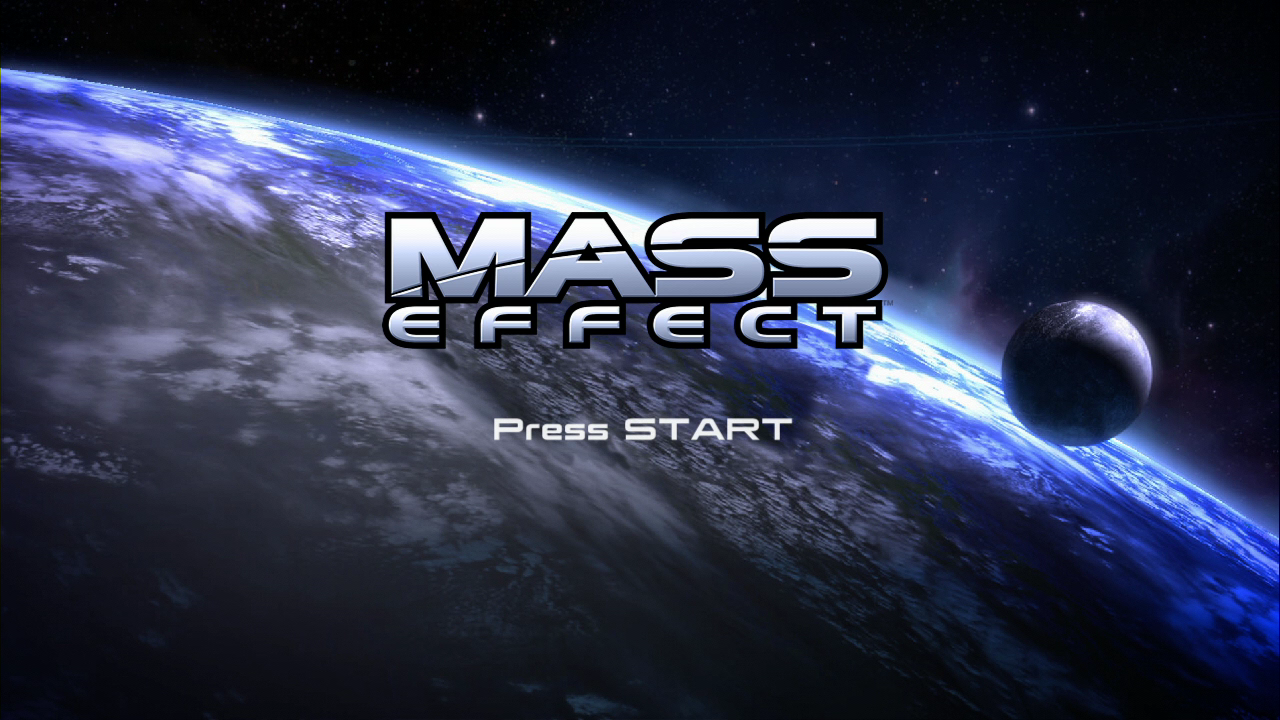 Mass Effect (Limited Collector's Edition) Xbox 360 Title screen