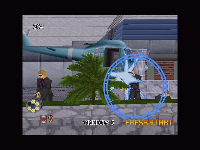 Virtua Cop 2 Windows Blue shoot?