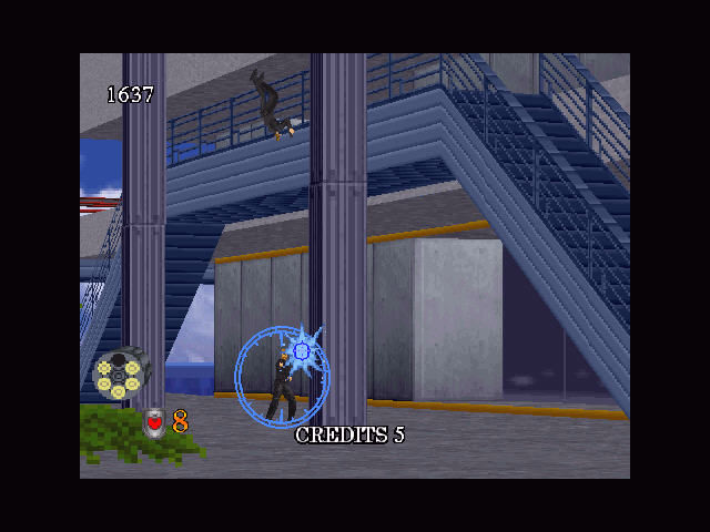 Virtua Cop 2 Windows enemy come out beh column. Big mistake.