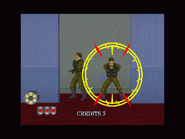 Virtua Cop 2 Windows New enemies - commandos.