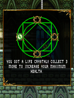 Soul of Darkness J2ME Three more crystals are needed for health increase.