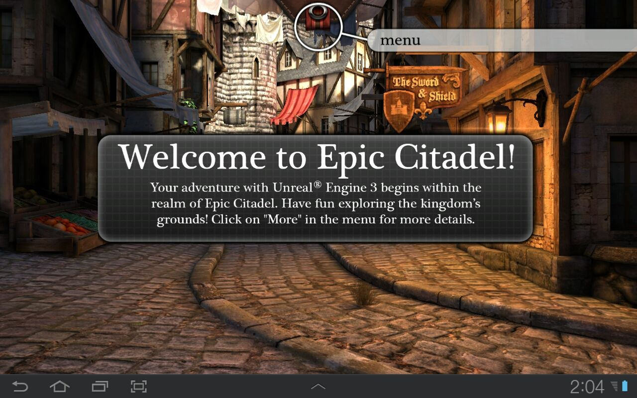 Epic Citadel Android Welcome to the citadel