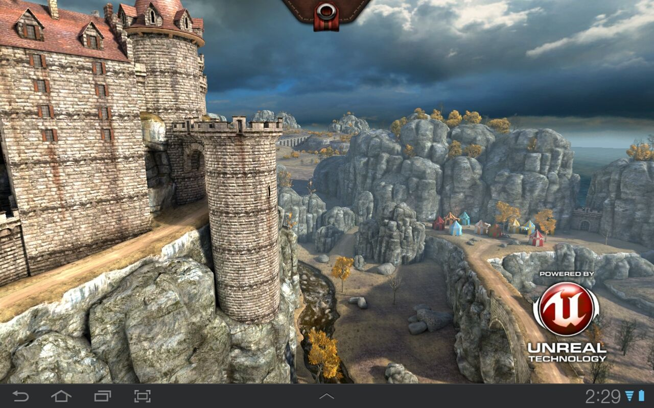Epic Citadel Android Guided tour - bird's view