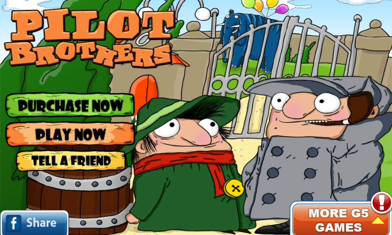 Pilot Brothers: On the Track of Striped Elephant Android Title screen