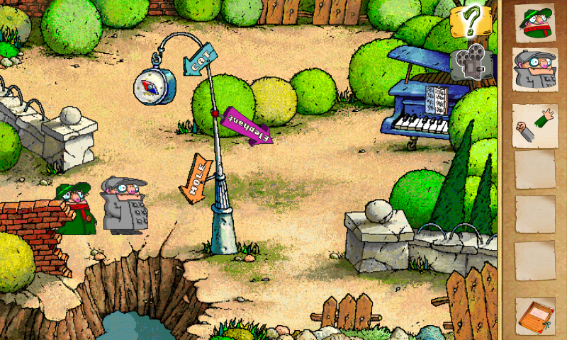 Pilot Brothers: On the Track of Striped Elephant Android We've entered the zoo.