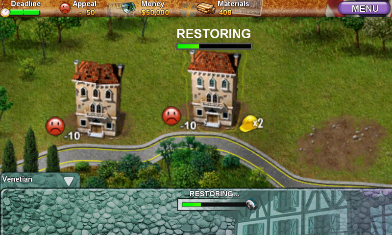 Build-a-lot 3: Passport to Europe Android Restoring some old buildings