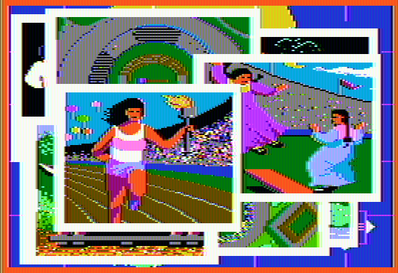 The Games: Summer Edition Apple II Opening sequence
