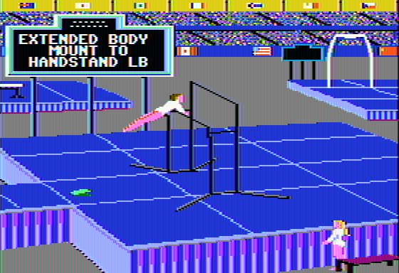The Games: Summer Edition Apple II Uneven Parallel Bars