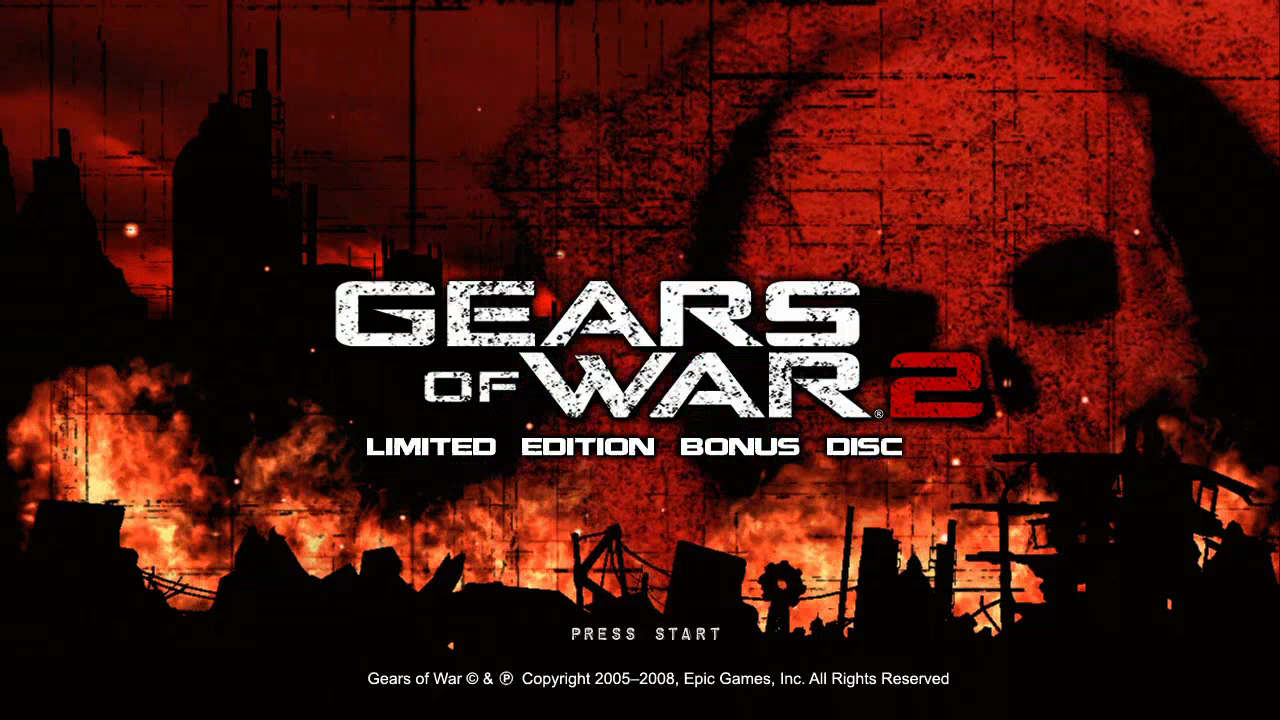 Gears of War 2 (Limited Edition) Xbox 360 Title screen