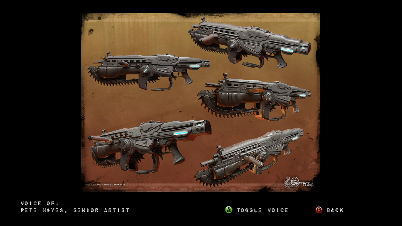 Gears of War 2 (Limited Edition) Xbox 360 Lancer concept art