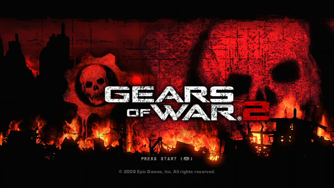 Gears of War 2 Xbox 360 Title screen