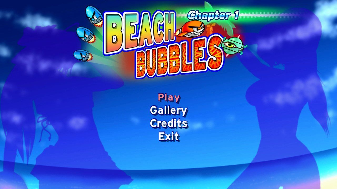 Beach Bubbles: Chapter 1 Xbox 360 Main menu.