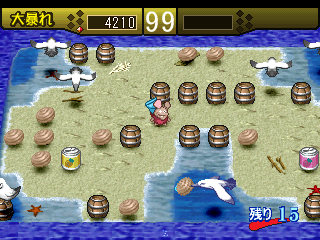 Ganba no Bōken: The Puzzle Action PlayStation In the beach levels the main enemies are seagulls.