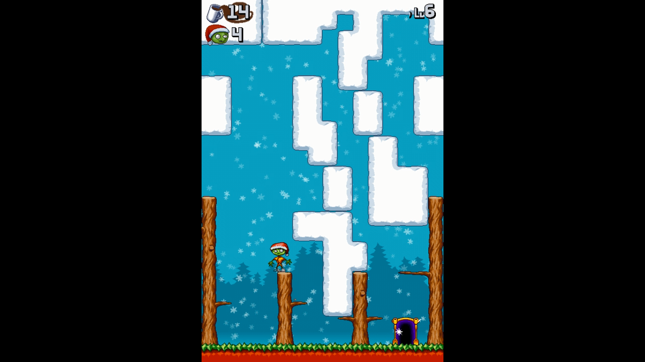 Johnny Platform Saves Christmas! Xbox 360 A few of the stages are the vertical style used in the first game.