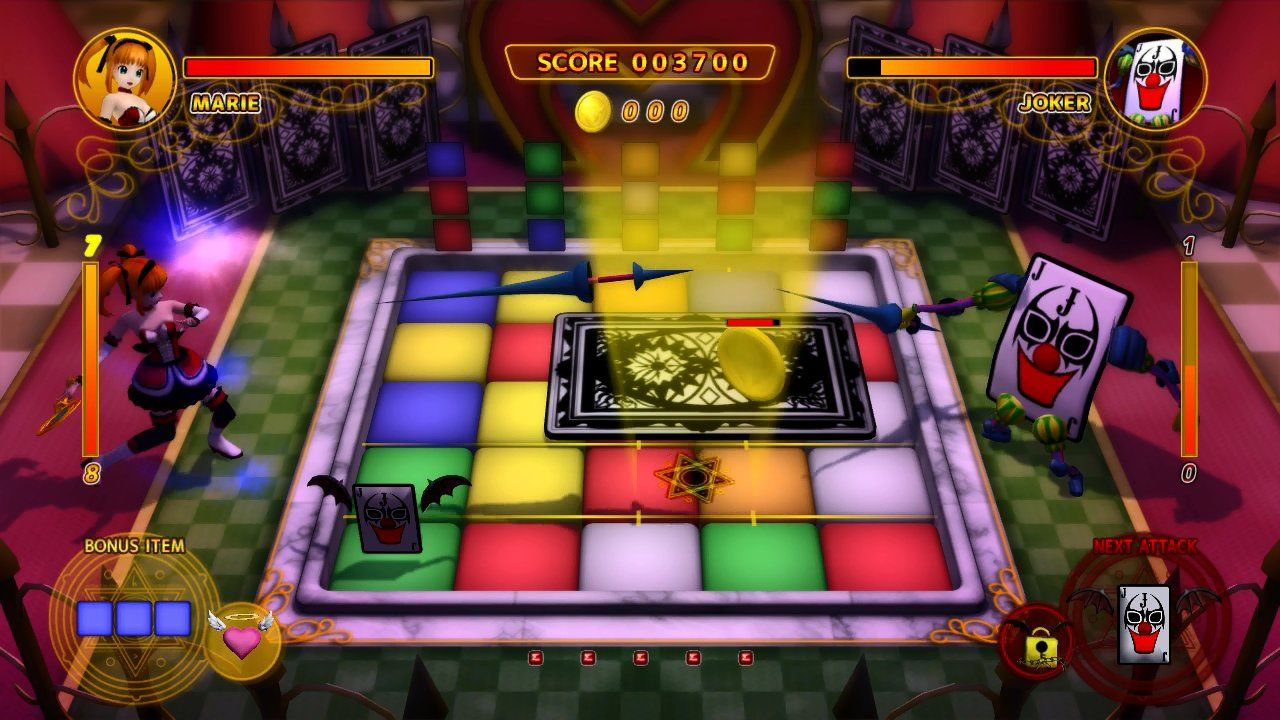 Magical Cube Xbox 360 Destroy that card item on the green block to clear the card blocking the screen!