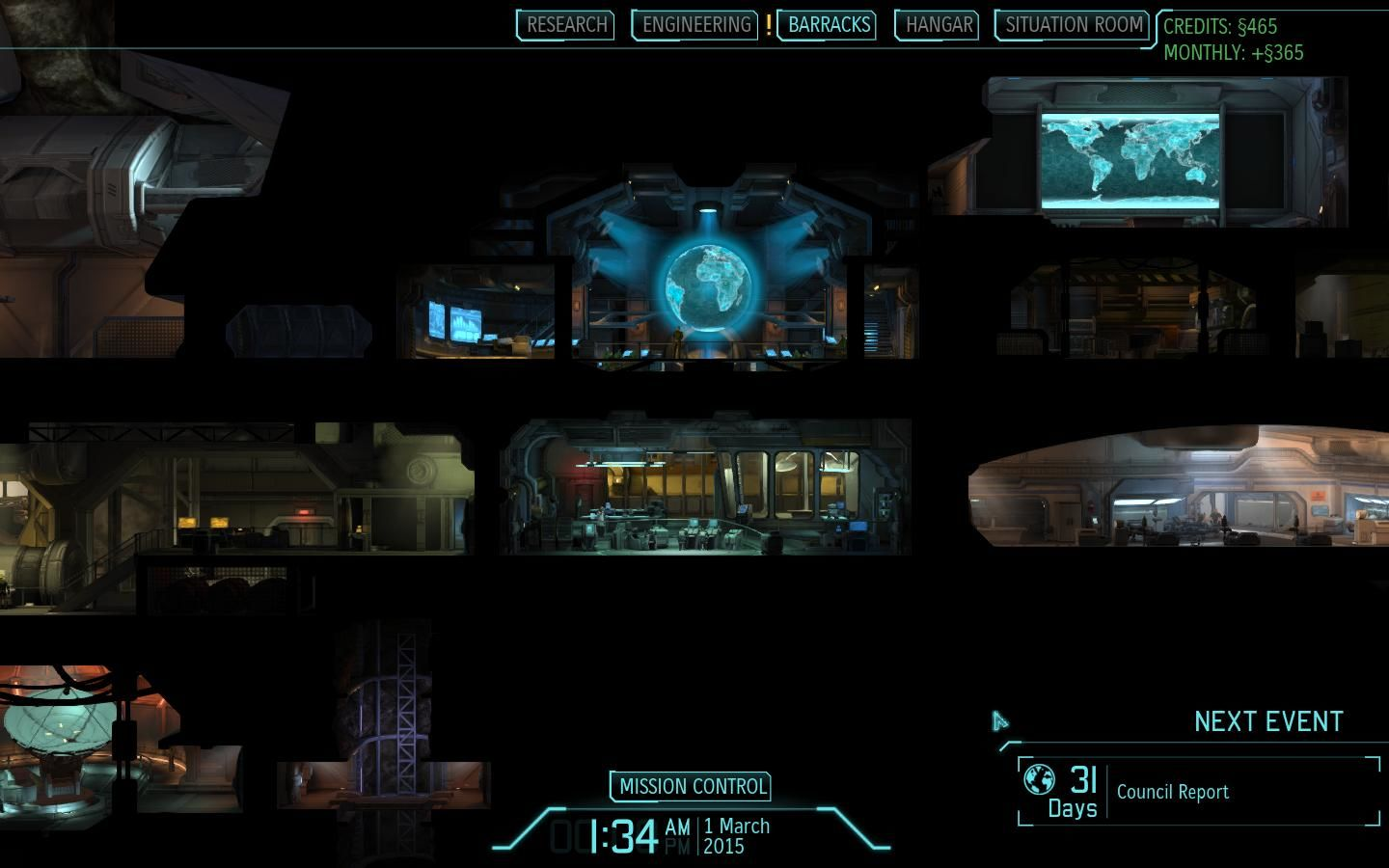 XCOM: Enemy Unknown Windows XCOM Command Center