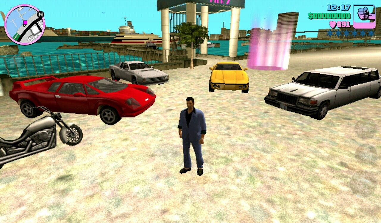 Grand Theft Auto: Vice City iPad 1980 Exotic Sports cars and one is Lamborghini Countach