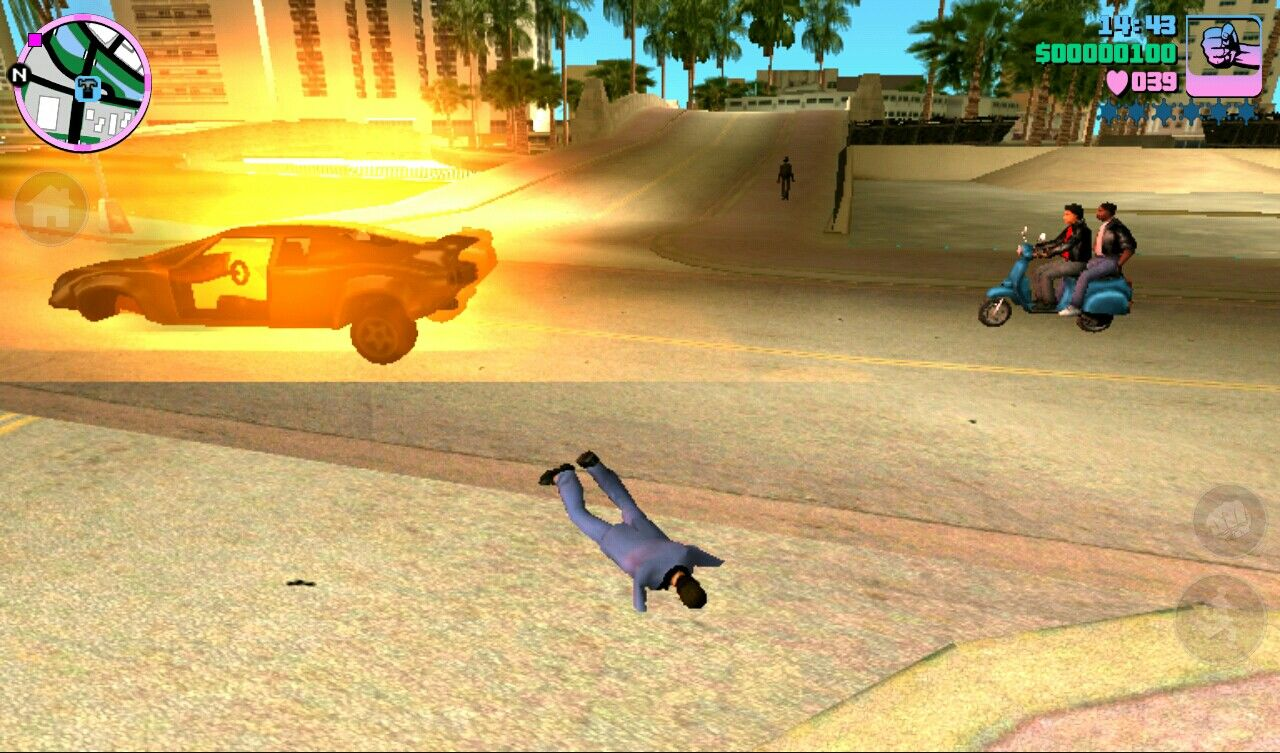 Grand Theft Auto: Vice City iPad Car exploded