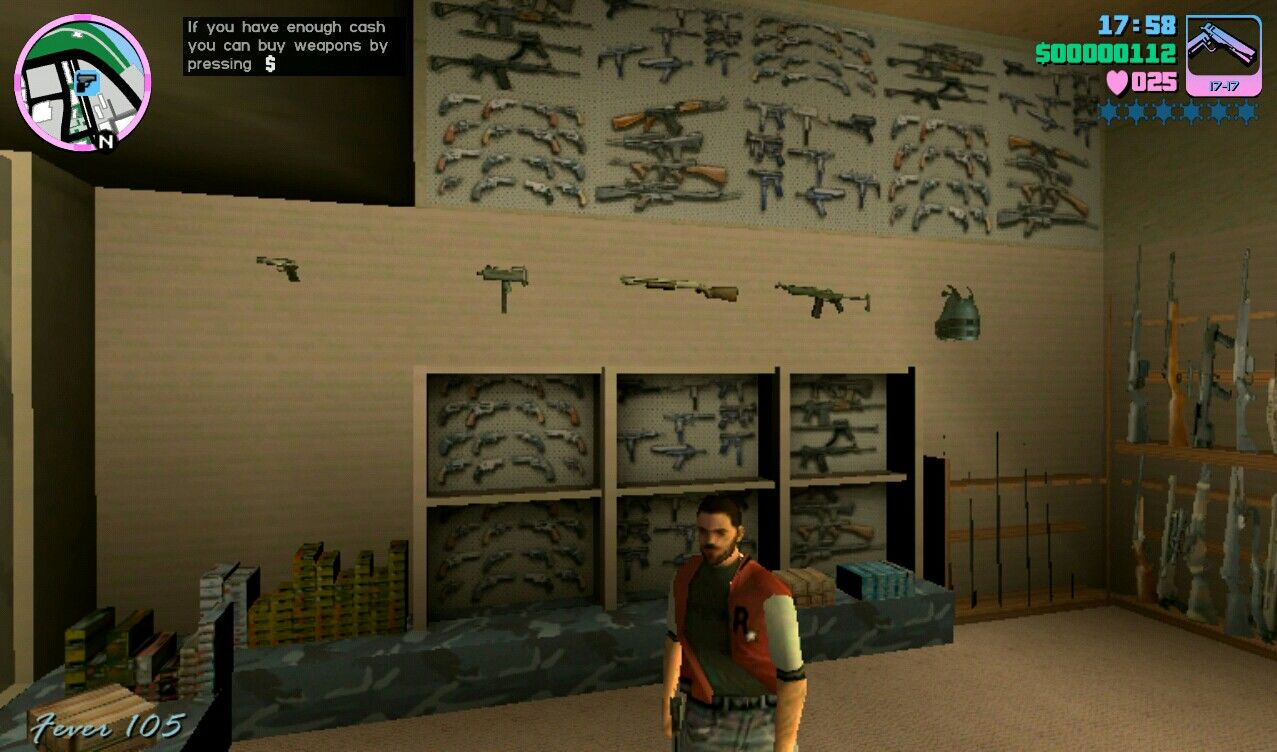 Grand Theft Auto: Vice City iPad In Vice City you can go into gun shops and buy weapons