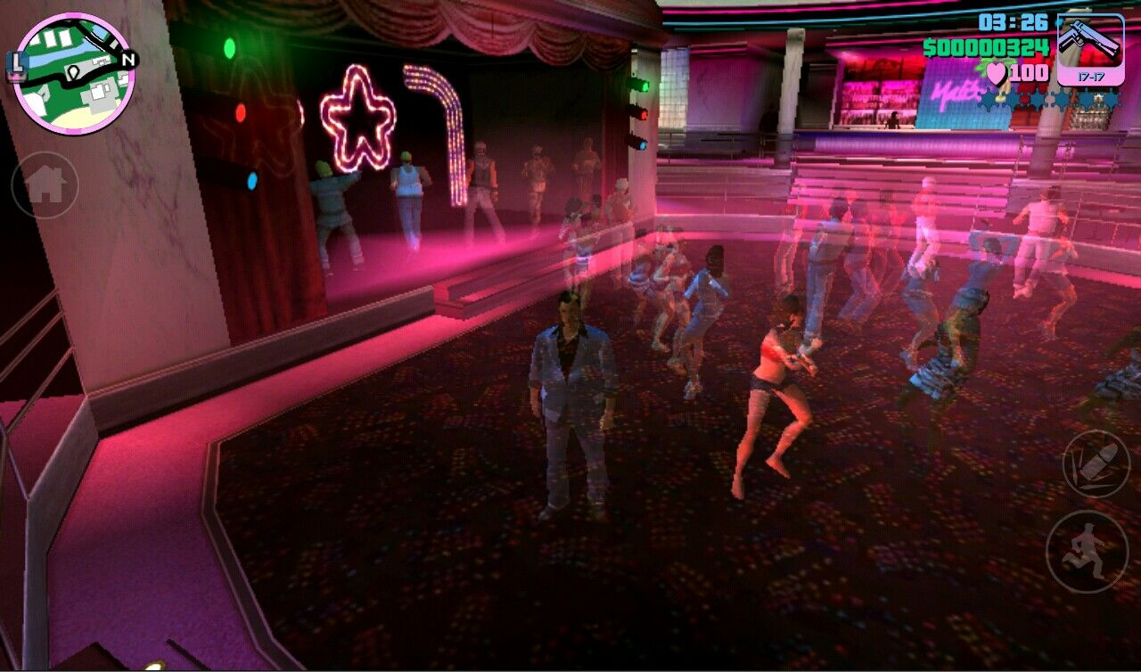 Grand Theft Auto: Vice City iPad The Malibu Club a hot dance spot in the 1980s Vice City