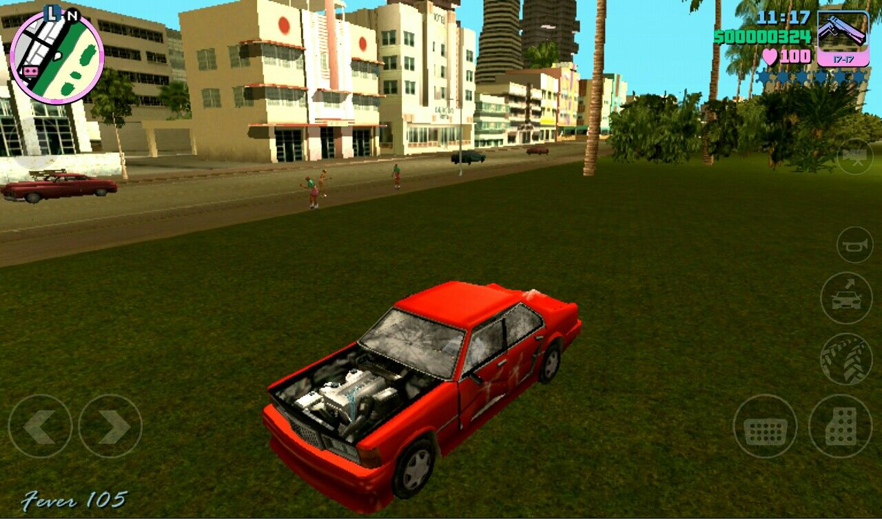 Grand Theft Auto: Vice City iPad Car Graphics are great after taken damage