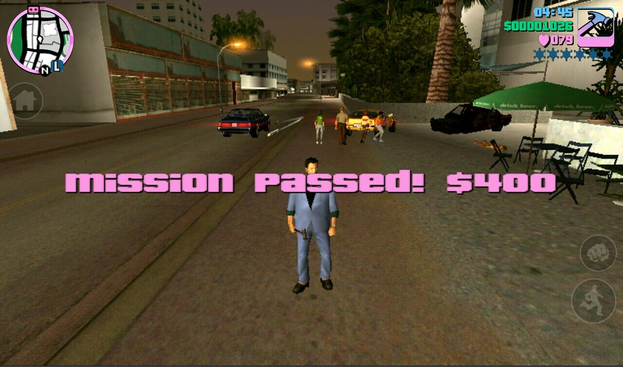 Grand Theft Auto: Vice City iPad Money for completing a mission
