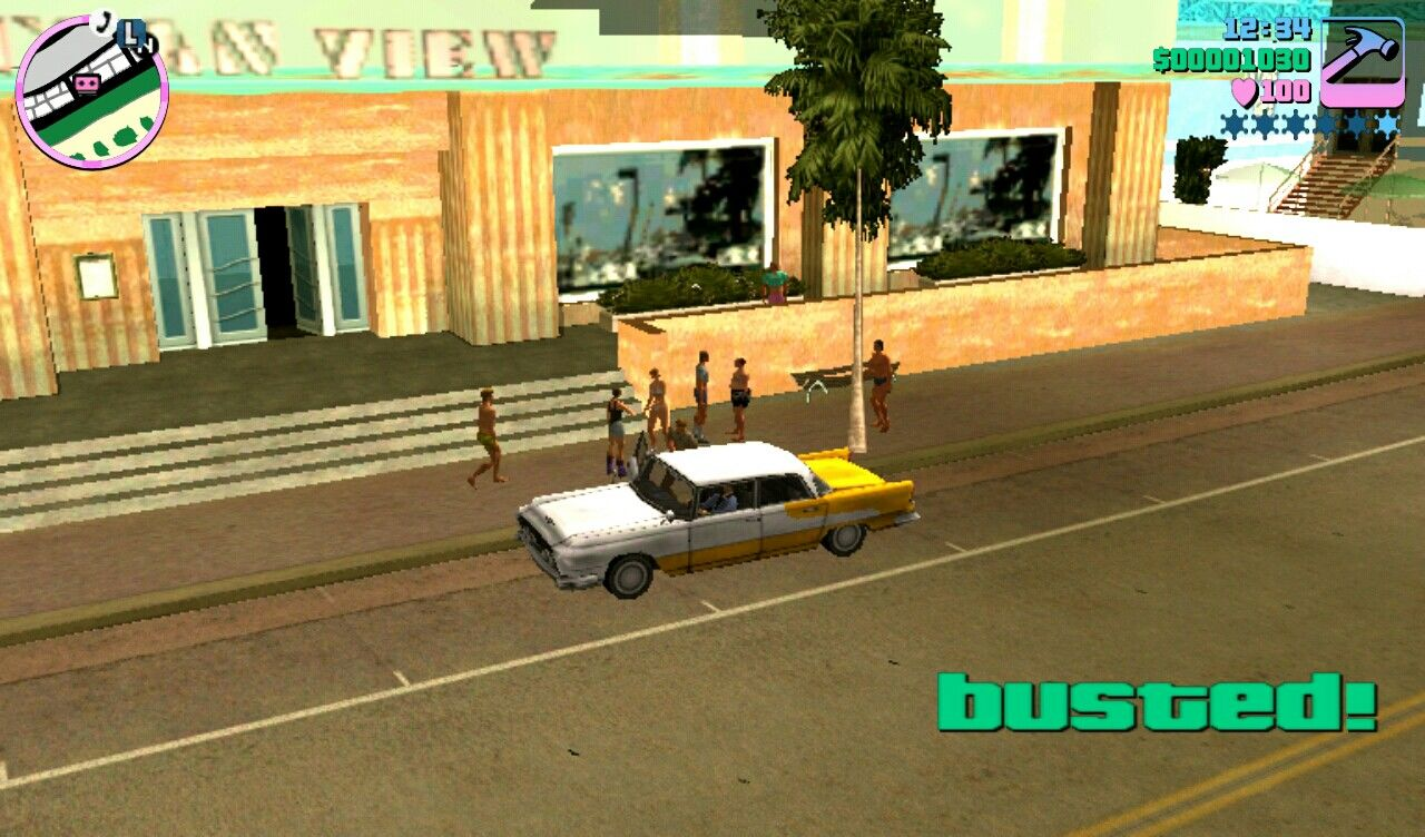 Grand Theft Auto: Vice City iPad Getting arrested by Vice Citys Finest