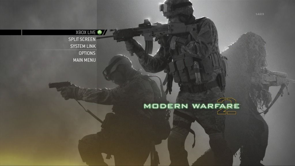 Call of Duty: Modern Warfare 2 Xbox 360 Multiplayer menu