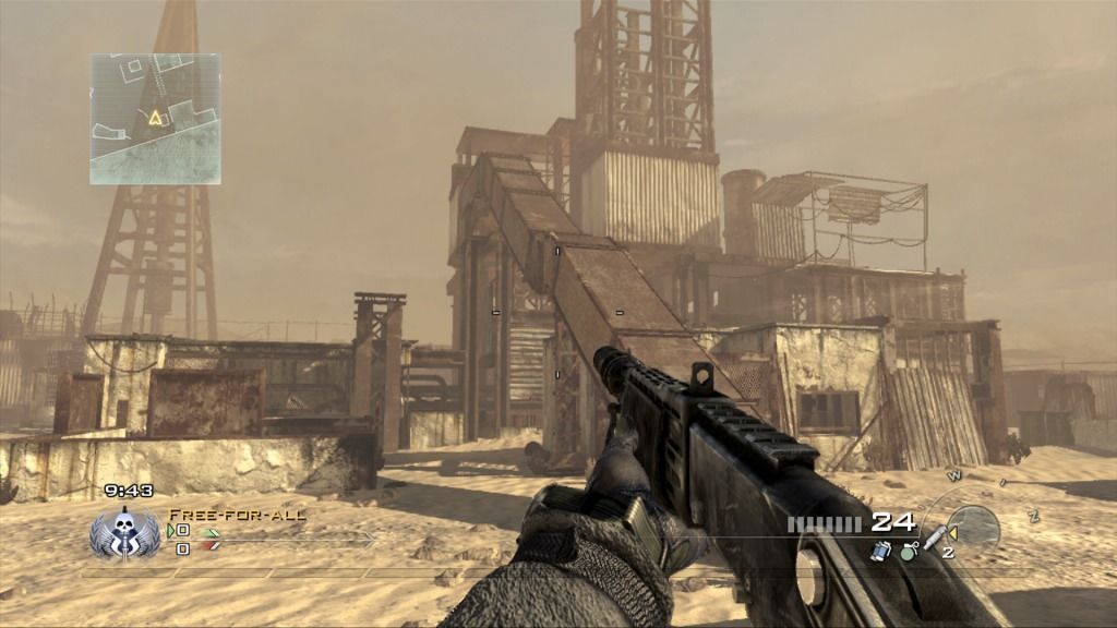 Call of Duty: Modern Warfare 2 Xbox 360 The map called Rust.