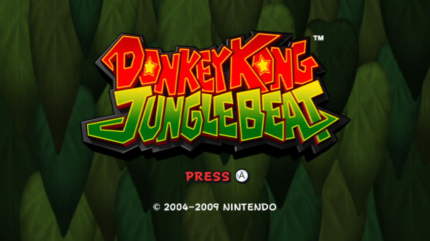 Donkey Kong: Jungle Beat Wii Title screen