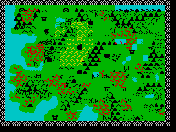 Sorcerer Lord ZX Spectrum Map