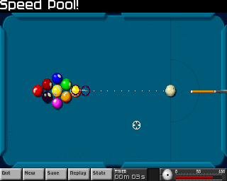 Arcade Pool Amiga CD32 Time to break in speed pool