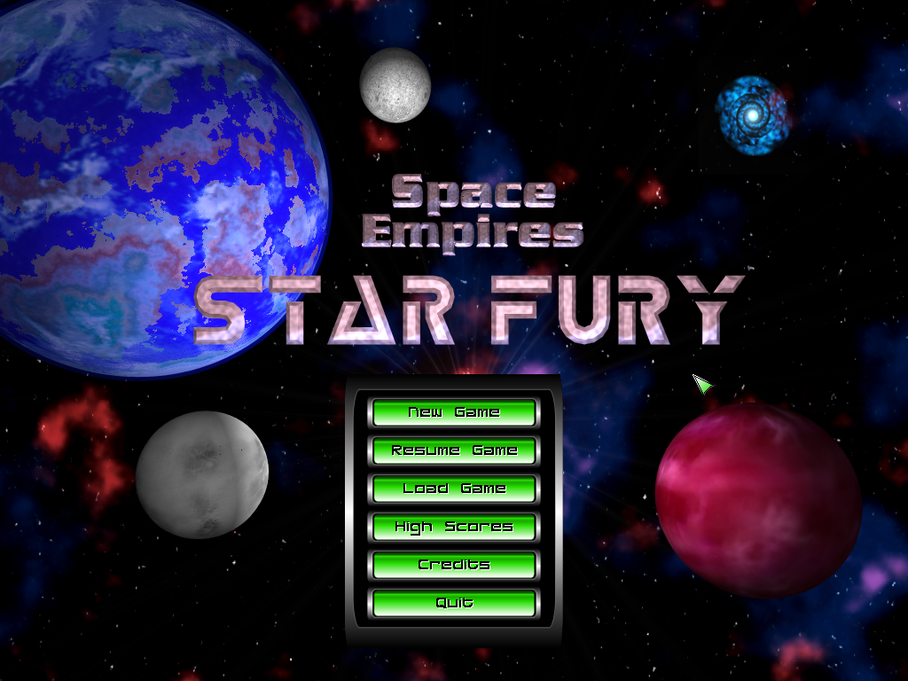 Space Empires: Starfury Windows The beginning of your space faring career