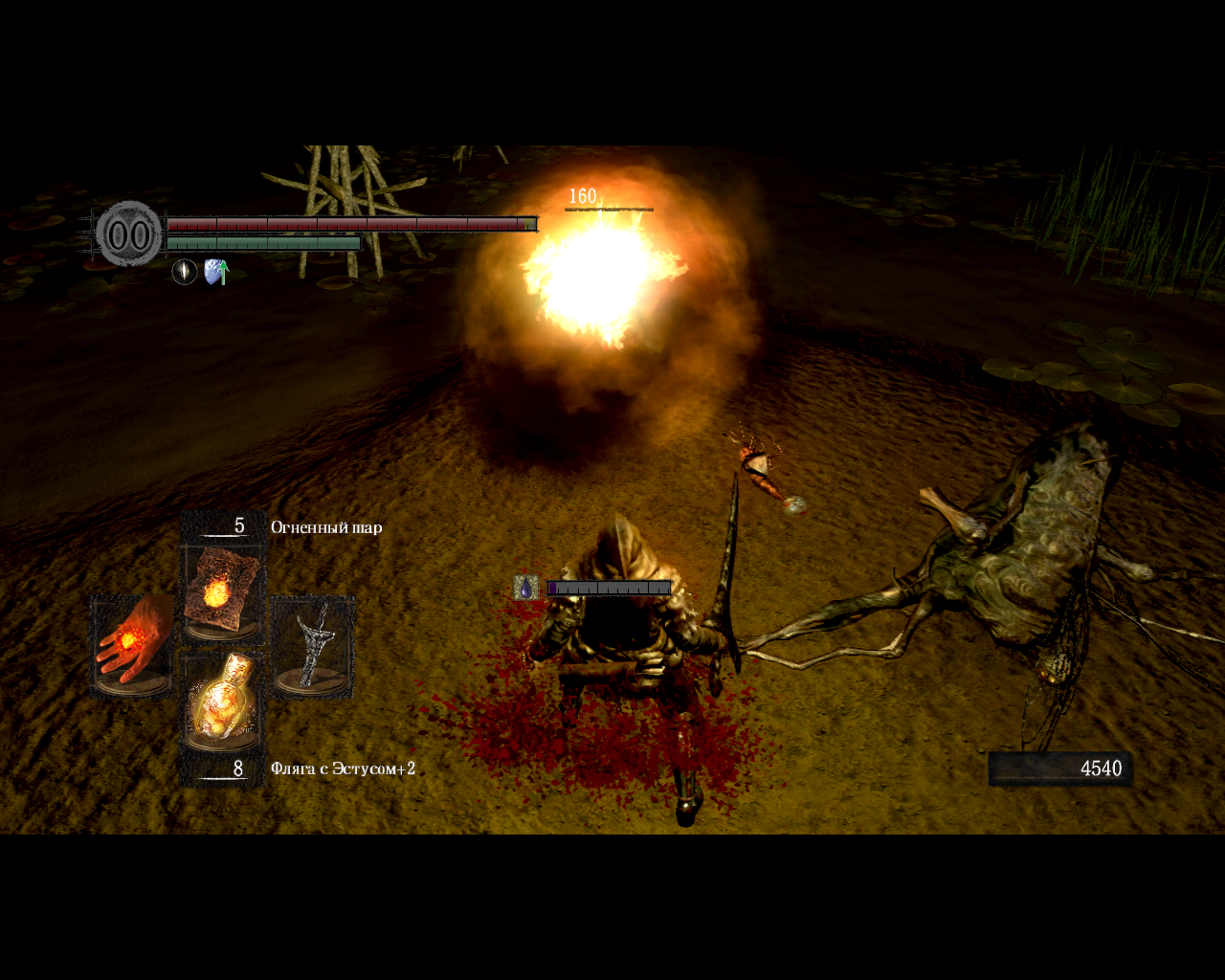 Dark Souls: Prepare to Die Edition Windows Hitting a poisonous Giant Mosquito with a fireball. Yeah...