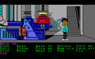 Maniac Mansion Atari ST The basement has a nuclear reactor - just like the basement of every evil genius bent on world domination should.