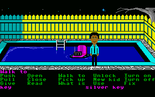 Maniac Mansion Atari ST Pool.