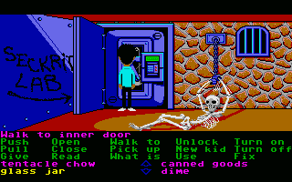 Maniac Mansion Atari ST Opening the lab door to Doctor Fred's secret lab.