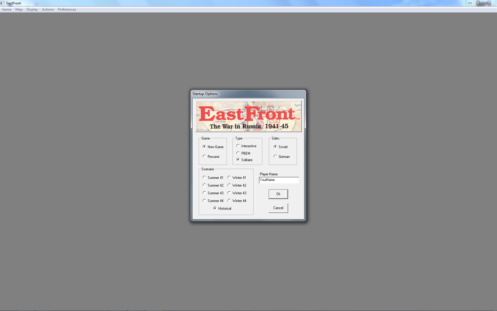 Computer EastFront Windows Startup options