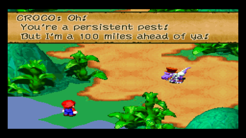 Super Mario RPG: Legend of the Seven Stars Wii A line from Croco in
