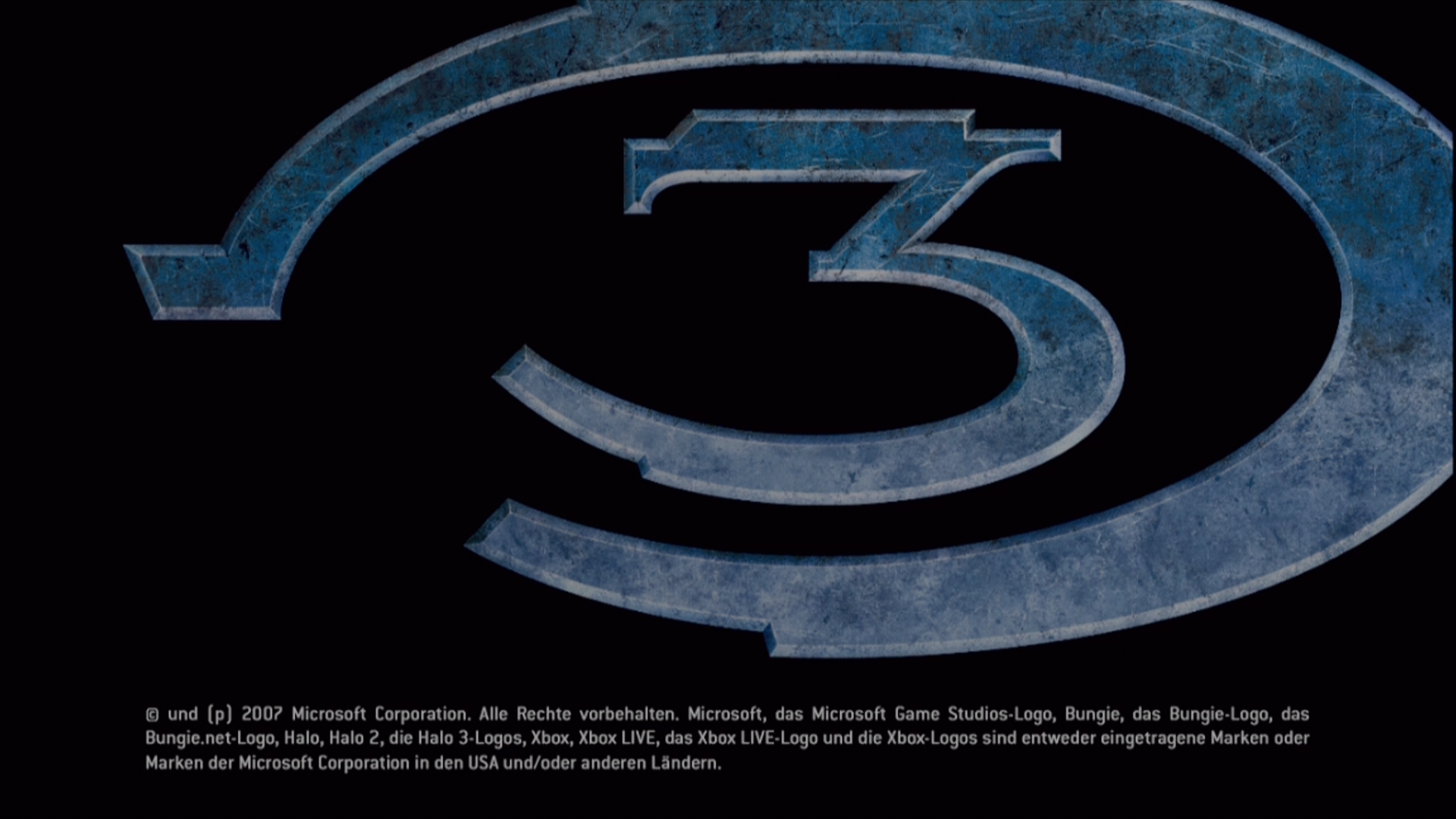 Halo 3 Xbox 360 Title screen