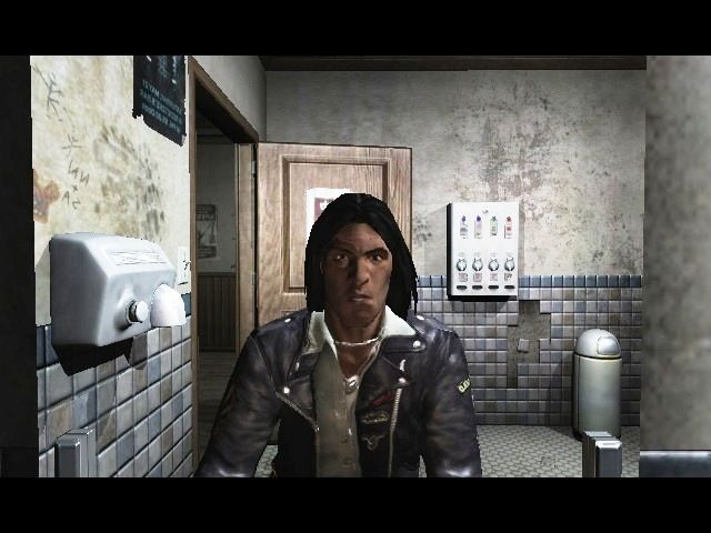 Prey Macintosh Game intro with Tommy (Native American) talking to himself in the restroom