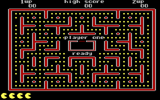 Jr. Pac-Man DOS Ready for Game - Stage 1 (EGA)